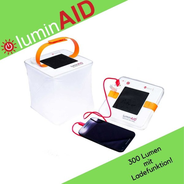 LuminAID - PackLite Hero 2-in-1 Phone Charger - Solarlaterne